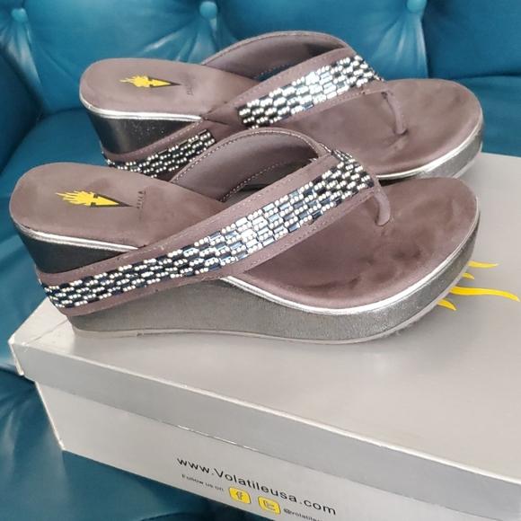 Volatile Bling Wedge Sandal